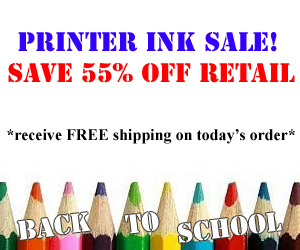 55% off all Ink Products